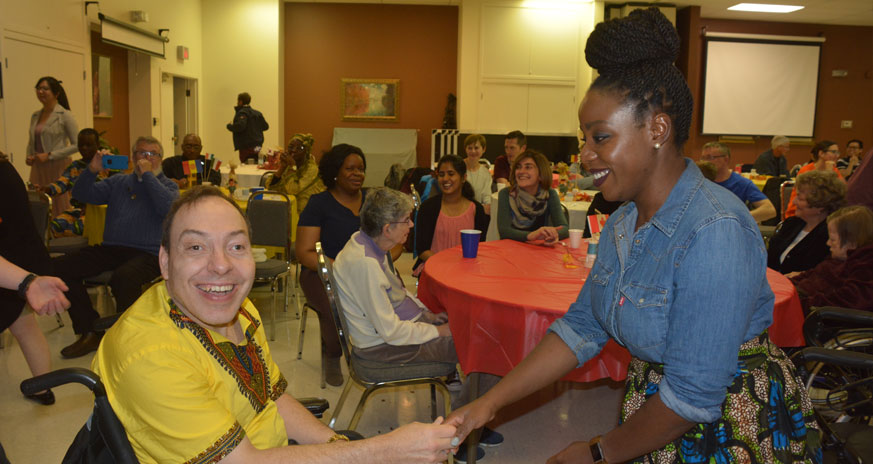 Jeff and Mwando at L'Arche Heritage day