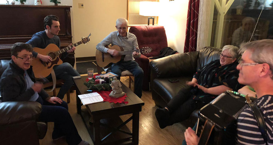 Music night in one of our homes